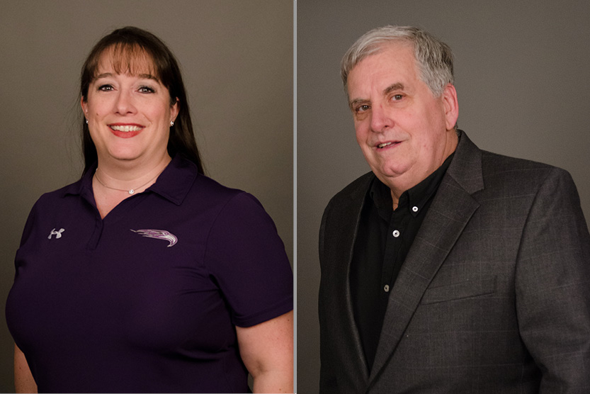 15 Year Awards recipients, Lisa Thomas and Dr. William Clary