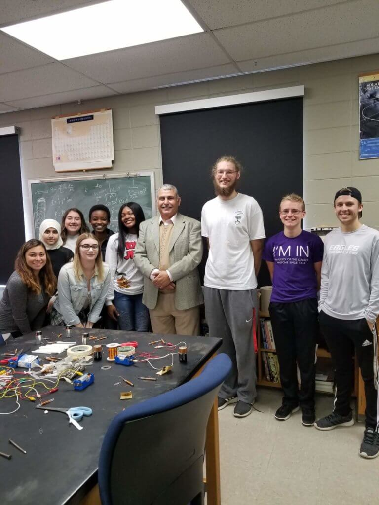 Dr. Faouri and class.