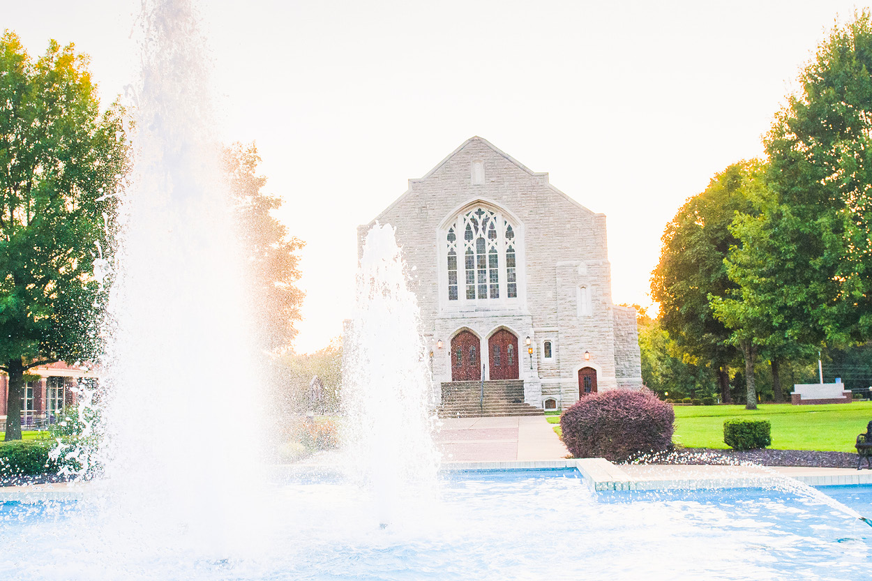 Chapel and fountain