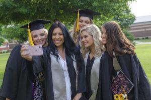 Graduates taking a picture