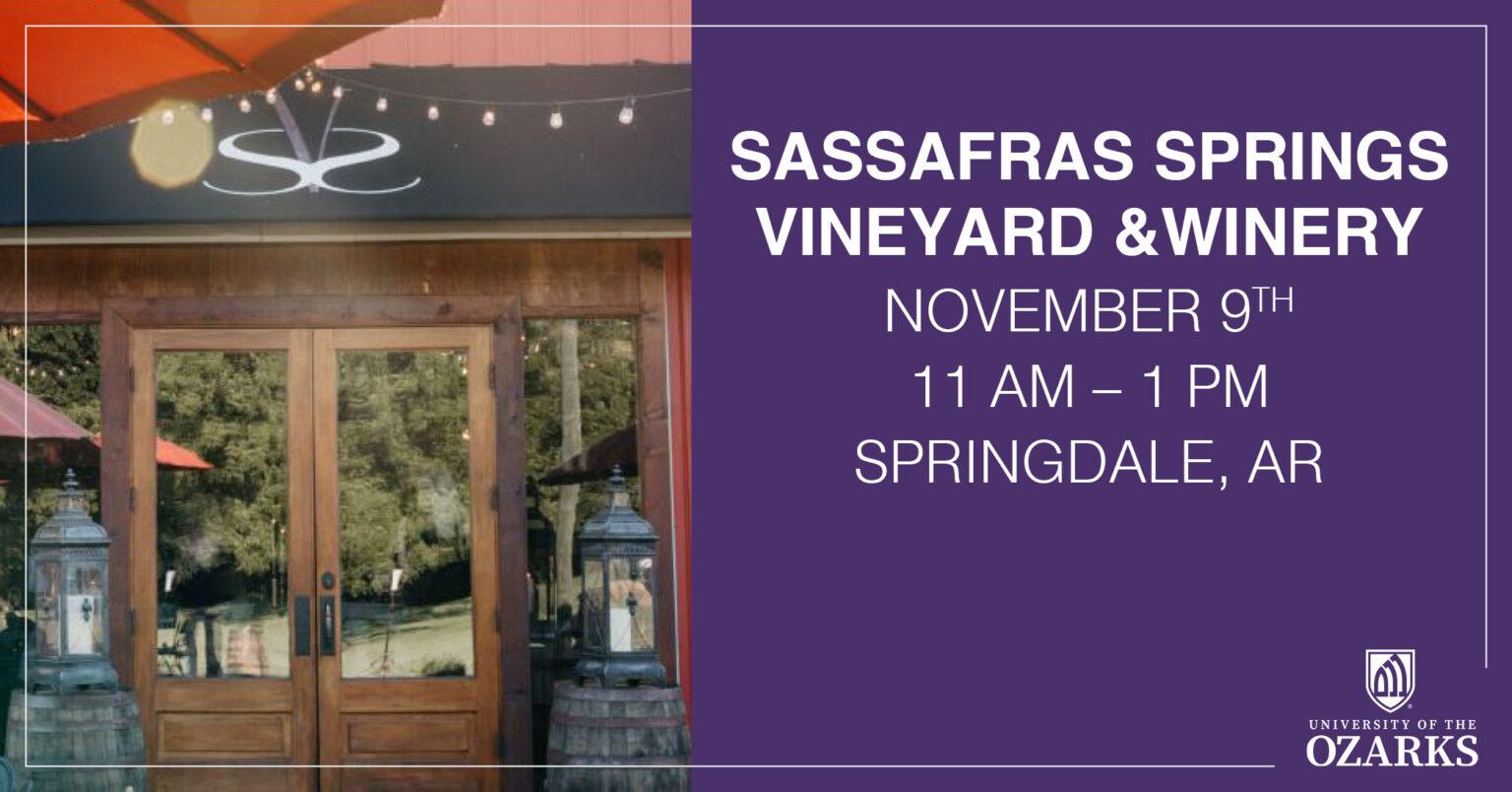 Alumni Event – Sassafras Springs Vineyard & Winery