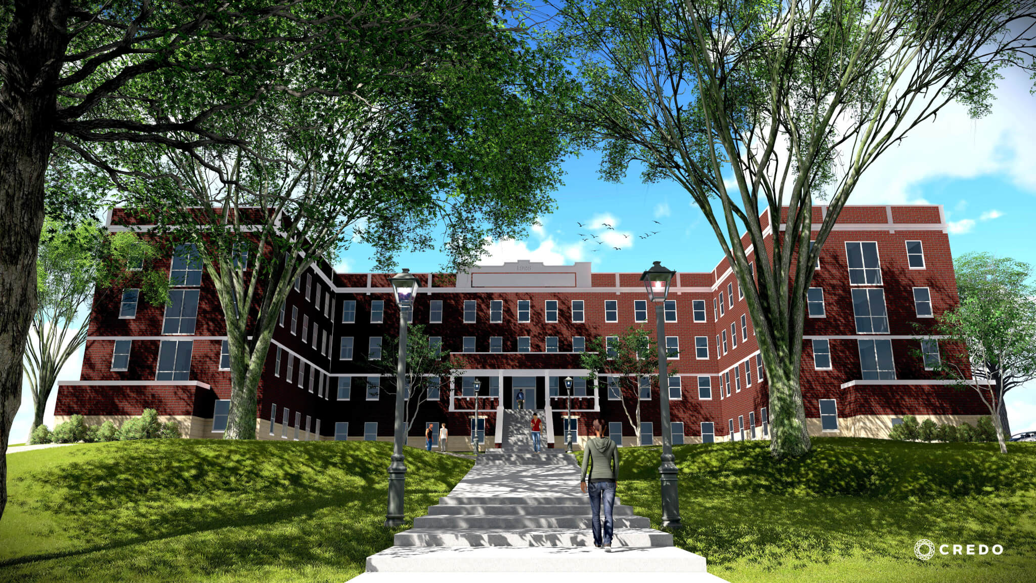 MacLean Hall Drawing - Exterior