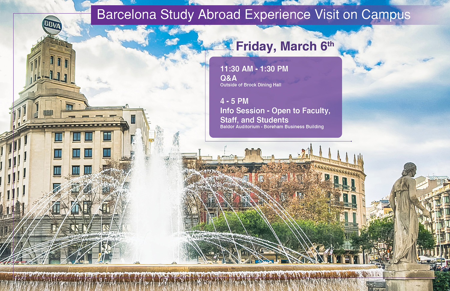 Barcelona Study Abroad Experience Info Session